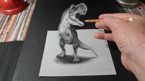 drawing  rex   draw  tyrannosaurus rex youtube
