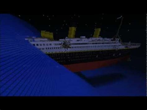 minecraft titanic sinking animation r m s titanic big planet 2