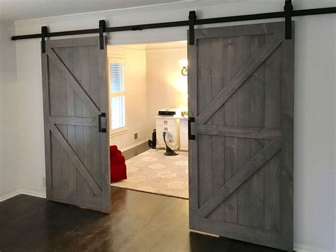 interior sliding barn doors for homes z brace plank barn door