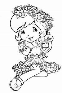 Dn Strawberry Shortcake Coloring Page Coloring Pages