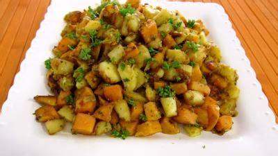 cuisiner la patate douce à la poele panais et patates douces aux épices recette légumes