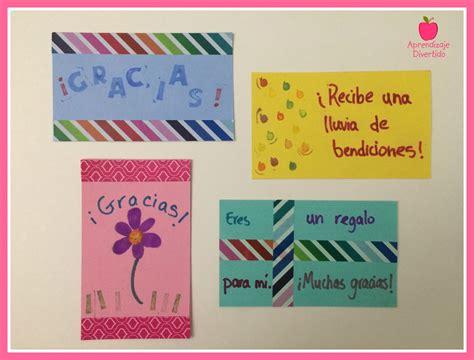tarjeta de agradecimientos tarjetas de agradecimiento aprendizaje divertido
