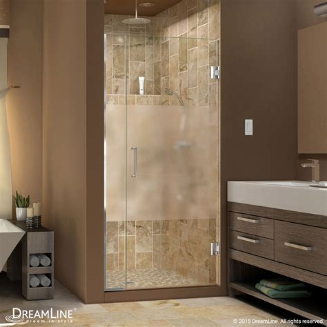unidoor   frosted glass shower door