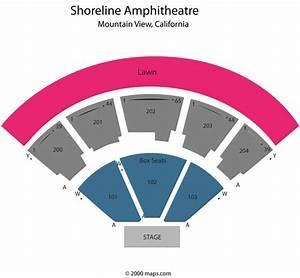 Shoreline Amphitheatre Mountain View Ca Seating Chart View