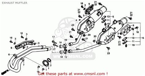 honda nx650 dominator 1988 j usa exhaust muffler schematic partsfiche