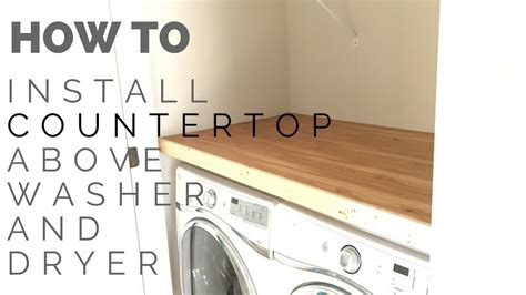 install laundry closet countertop youtube