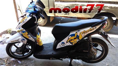 Foto Motor Beat Modif by Foto Modifikasi Motor Beat Warna Putih Terkeren Dan