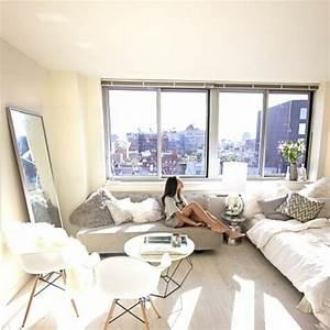 meubler un studio 20m2 voyez les meilleures idees en 50 With tapis chambre bébé avec canapé beige clair