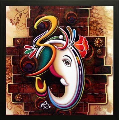 exclusive saf ganesh oil painting