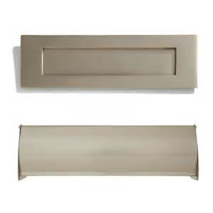 image of brushed nickel cabinet heavy brass mail slot outdoor