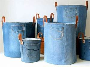 Wäschekorb Selber Machen : 60 originelle jeans upcycling ideen zum nachmachen ~ Watch28wear.com Haus und Dekorationen