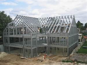 Maison Structure Métallique : charpente metallique maison individuelle ~ Melissatoandfro.com Idées de Décoration
