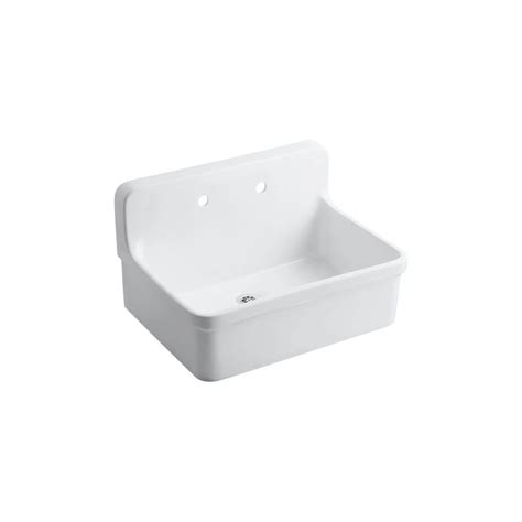 Kitchen Sink Storage Ideas - kohler gilford 22 in vitreous china utility sink in white k 12787 0 the home depot