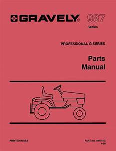 Gravely 987 Parts Manual For Professional G Series