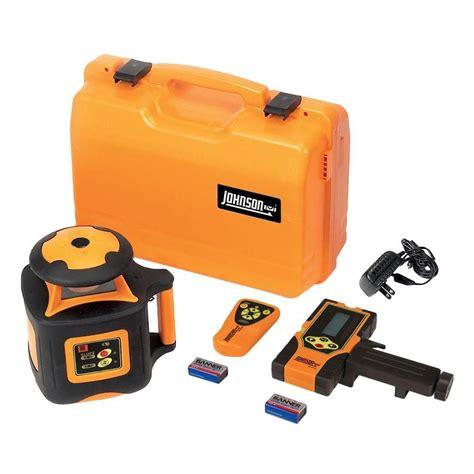 johnson laser level johnson electronic self leveling horizontal rotary laser level 40 6535 the home depot