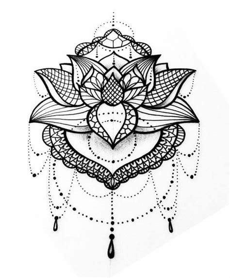 cool mandala lotus tattoo design