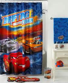 Disney Cars Bathroom Sets by Disney Bath Accessories Disney Cars Shower Curtain