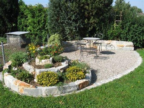Sitzplatz Im Garten Mit Kies Siddhimindinfo