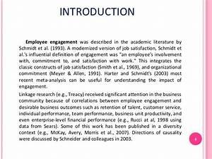 Employee engagement essay