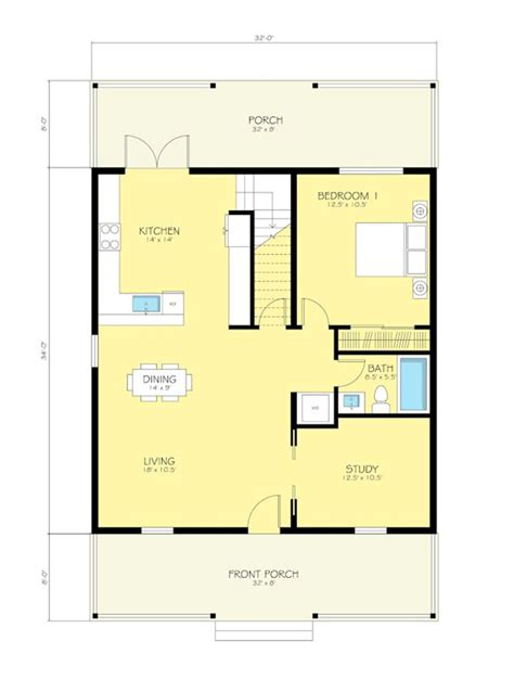cheapest modular homes cottage style house plan 2 beds 2 baths 1616 sq ft plan
