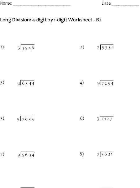 Long Division Worksheets For Helping Students Become Division Masters