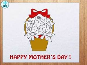 How to draw mother's day cards - YouTube