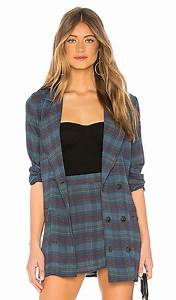 Flynn Skye X Revolve Jayla Jacket In Blue Plaid