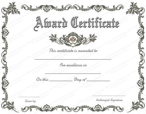 royal award certificate template  certificate templates
