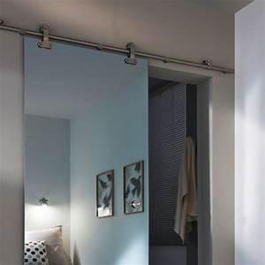 portes coulissantes selection produits cote maison With porte de douche coulissante avec spot miroir salle de bain