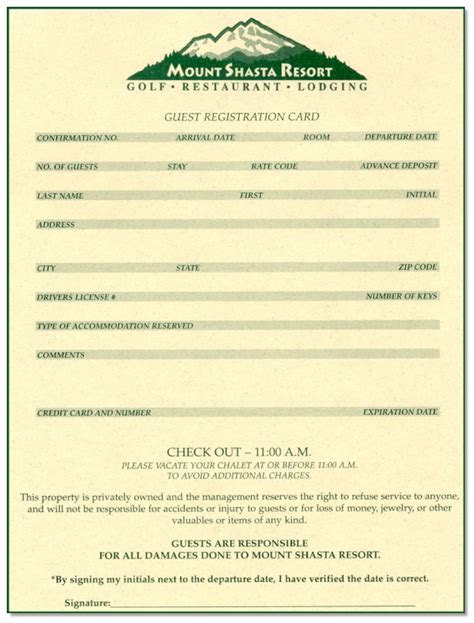 Sample Reports  Registration Card With Color Background