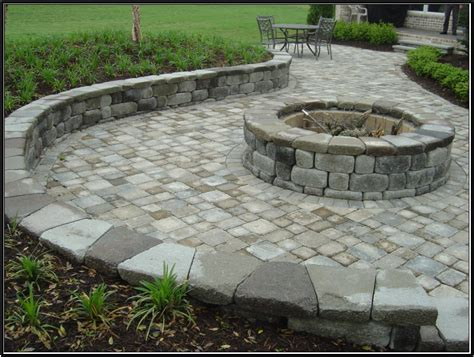 paver pit designs keystone country manor and hton blend pavers