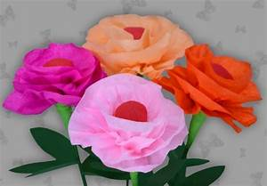 Papierblumen Aus Servietten : schnelle blume basteln in nur zehn minuten ~ Yasmunasinghe.com Haus und Dekorationen