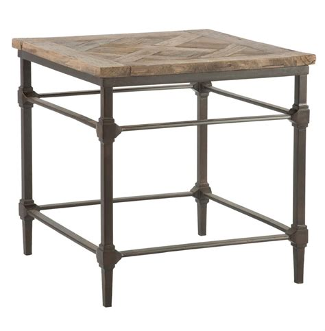 side table mattix french country reclaimed wood side end table kathy kuo home