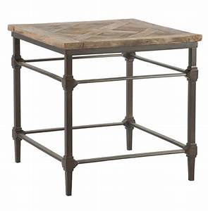 Mattix french country reclaimed wood side end table for Reclaimed wood end table