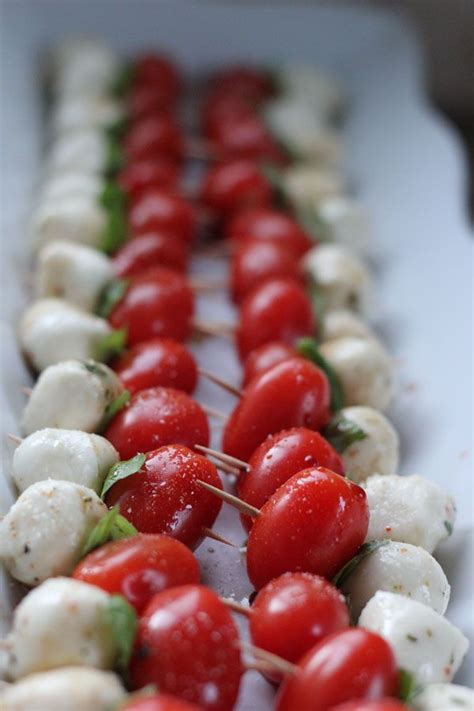 simple caprese appetizer perfect for christmas guests