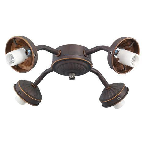 monte carlo ceiling fan light kit monte carlo 4 light roman bronze fitter ceiling fan light