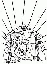 Crib Christmas Coloring Cliparts Scene Favorites Clipart sketch template