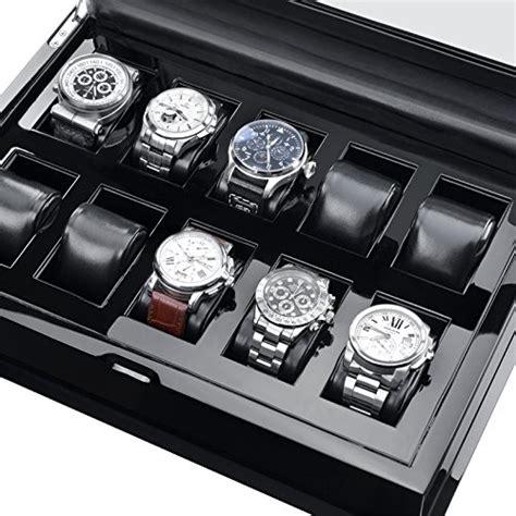 coffret de rangement pour montres hermann j 228 ckle j10b s villingen coffret de rangement pour 10 montres noir