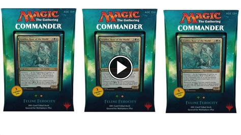 Magic The Gathering Premade Decks 2017 by Cat Tribal Commander 2017 Spoilers