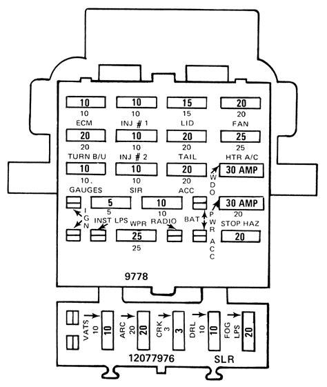 fuse diagram panel camaro 1992 block 1990 fuses firebird repair autozone guide 1985 1989 1982 lighting gm center chevrolet fig