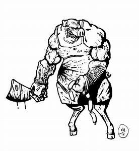 Pig Butcher Drawing At Getdrawings Com