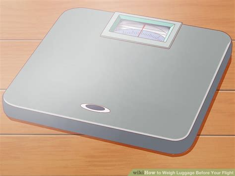 weigh luggage   flight  steps