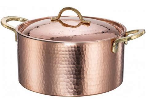 copper hammered soup pot stew pan casserole