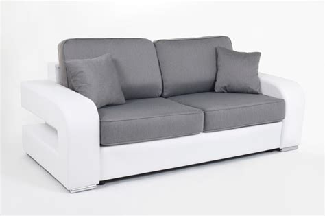 canapé convertible couchage 160 canape convertible couchage 160 cm alban wilma blanc