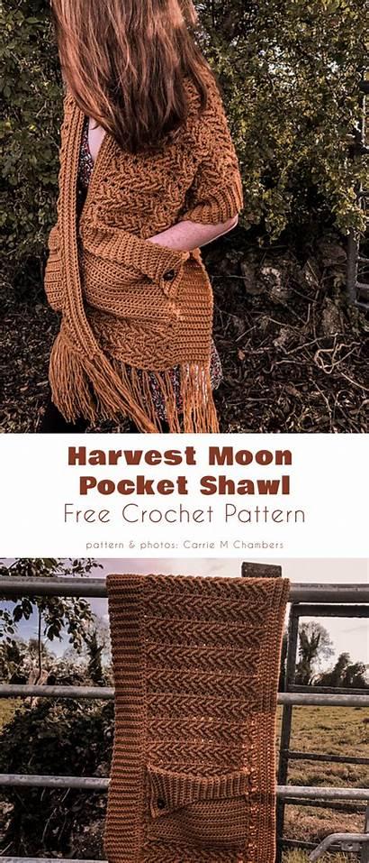 Crochet Shawl Pocket Wraps Patterns Shawls Yourcrochet