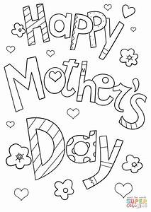 Happy Mother's Day Doodle coloring page | Free Printable ...