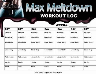 Workout Log Daily Printable Simple Template Allbusinesstemplates