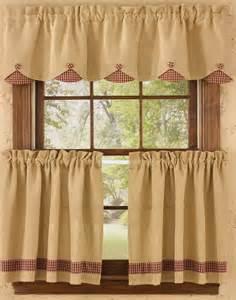 homespun country curtains