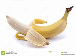 Half Peeled Banana Royalty Free Stock Images - Image: 31623689