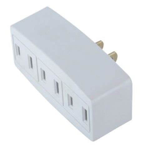 Commercial Electric 15 Amp Single Triplex Outlet, Whitela
